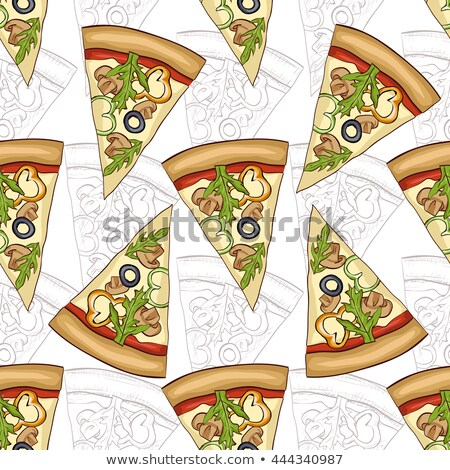Pizza cogumelos cor quadro fast-food Foto stock © netkov1
