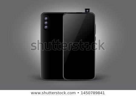 triple camera black smartphone concept mockup design Stock photo © SArts