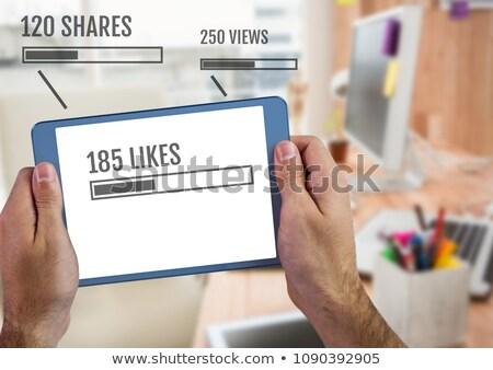 Tablet çubuklar dijital bileşik iş Stok fotoğraf © wavebreak_media