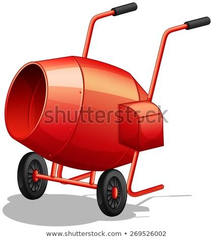 Cement mixer cartoon tekening retro stijl Stockfoto © patrimonio