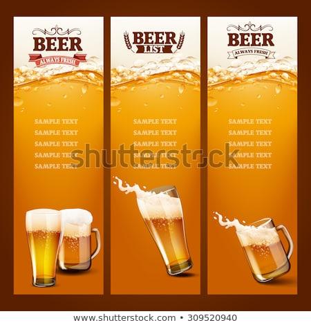 bière · verre · isolé · blanche · boire · or - photo stock © pikepicture