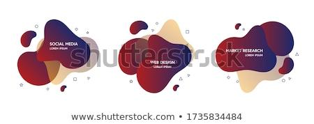 business · stile · geometrica · blu · colore - foto d'archivio © fresh_5265954