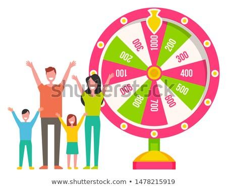 Rueda ruleta máquina familia vector ganar Foto stock © robuart