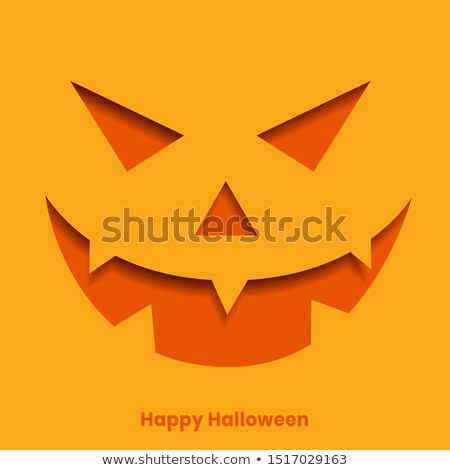 realistic papercut style laughing ghost face halloween backgroun Stock photo © SArts