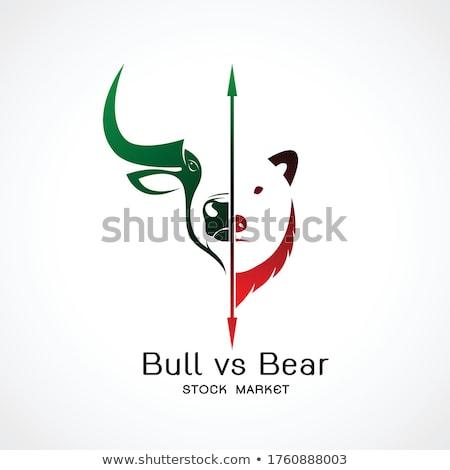 bull and bear   stock market stock photo © robstock