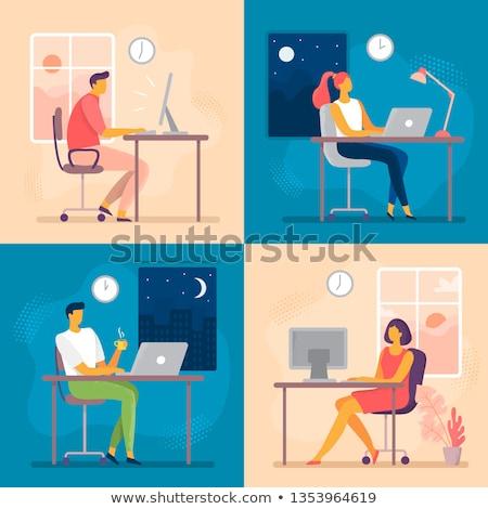 Travaux bureau tous les jours patron employé travailleur Photo stock © robuart