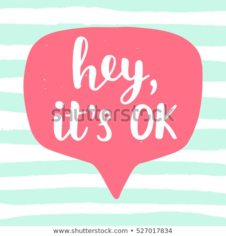 Hey. Banner, speech bubble, poster and sticker concept Stock photo © FoxysGraphic