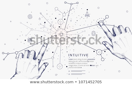 Artificial Intelligence Line Icon Circle Concept Stock photo © Anna_leni