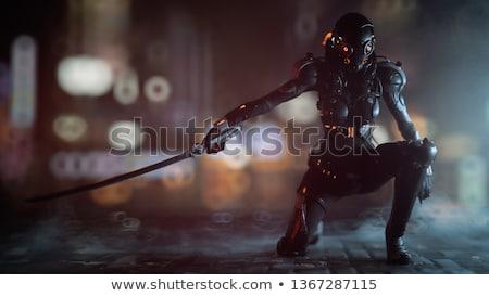 Militar soldado moderno exército tecnologia ilustração Foto stock © jossdiim