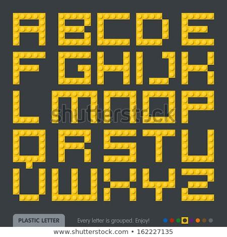 plastic blocks bricks toys alphabets letters set Stock photo © SArts