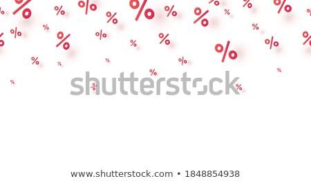 Blanco porcentaje signo 3D pared Foto stock © AndreyPopov