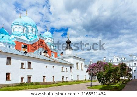 Tájkép sziget Oroszország nyár égbolt virág Stock fotó © borisb17