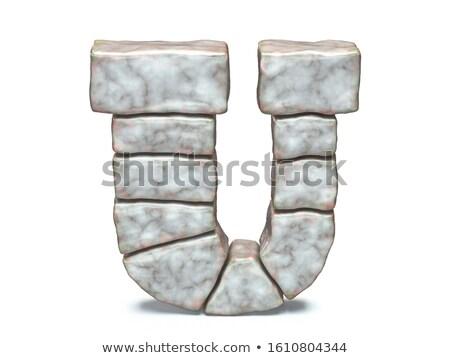 Rock kamieniarstwo chrzcielnica list 3D 3d Zdjęcia stock © djmilic