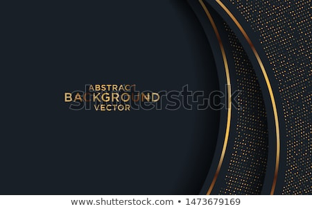 abstract golden and black hexagonal frame background Stock photo © SArts