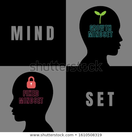 Growth Mindset vs Fixed Mindset Heads Concept Stock photo © ivelin