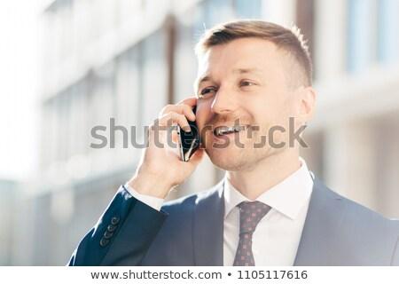 портрет успешный положительный служба сотрудник телефон Сток-фото © vkstudio