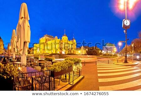 Zagreb república Croácia praça advento noite Foto stock © xbrchx