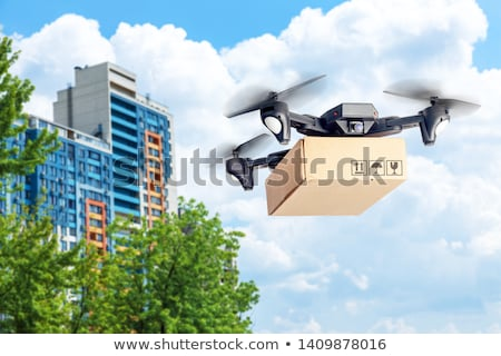 Drone Delivering Carton Box, Innovative Shipment Stock photo © robuart