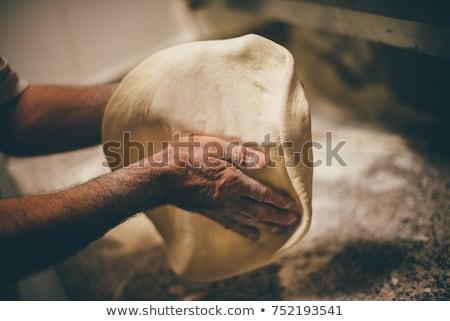 Pizza mutfak pizzacı el Stok fotoğraf © olira