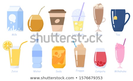 vector set of beverage cup Stock photo © olllikeballoon