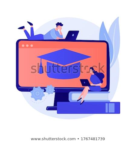 Szín elmélet online tanul vektor metafora Stock fotó © RAStudio