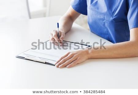 Médico notas clipboard médico diagnóstico câncer Foto stock © ra2studio