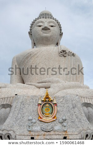 statue of big buddha of phuket vertical shot stock photo © moses