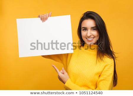 Vrouw billboard portret mooie vrouw business Stockfoto © iko