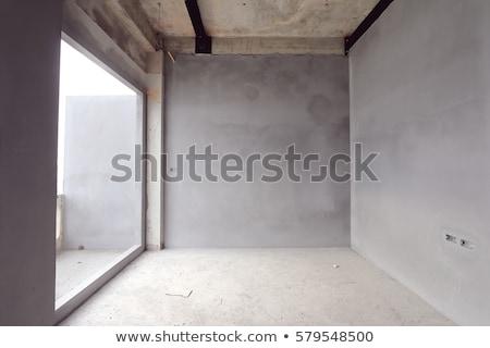 комнату строительство два Windows небе Сток-фото © deyangeorgiev