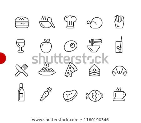 Maçã ícone coleção pele comida coração Foto stock © DamonAce