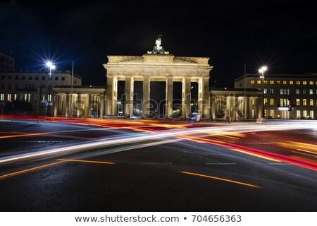 Brandenburg Gate by night in Berlin Stock photo © aladin66