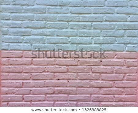 vieux · blanche · peint · mur · de · briques · bâtiment · mur - photo stock © paha_l