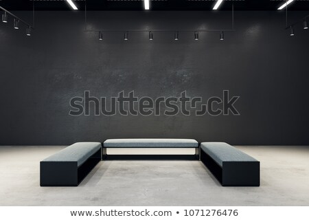 exposition · salle · cadres · construction · mur · art - photo stock © Paha_L