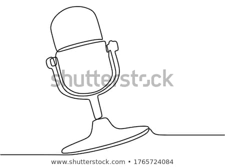 classic microphone on lined background stock photo © m_pavlov