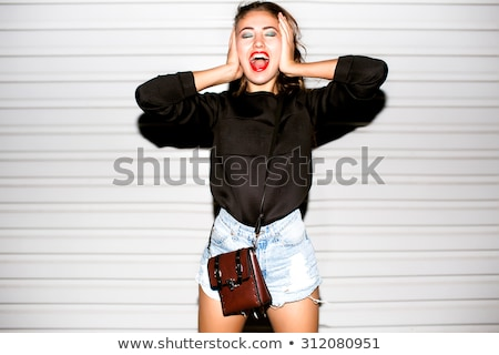 fashion girl screaming Stock photo © kokimk