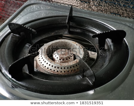 Stockfoto: Closeup Photo Of Old Rusty Gas Stove