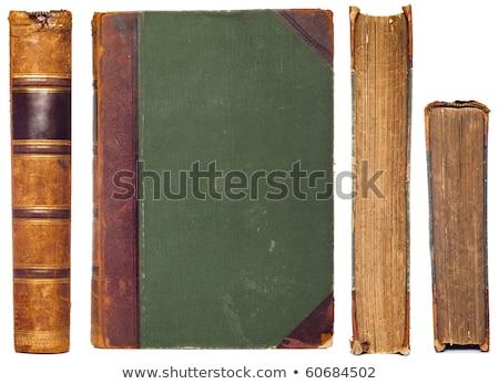 Set of old vintage books isolated on white background stock photo © ozaiachin