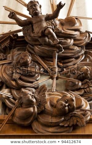 Ołtarz kościoła Wilno okno cegły Zdjęcia stock © johnnychaos