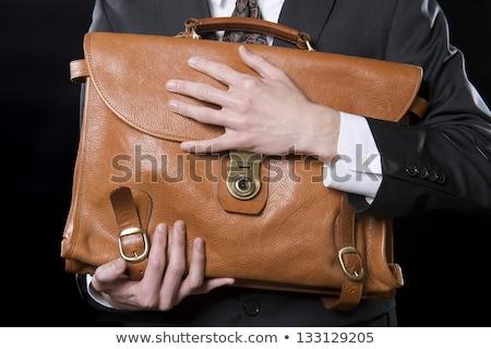 Uomo stretto valigetta ufficio sfondo Foto d'archivio © photography33
