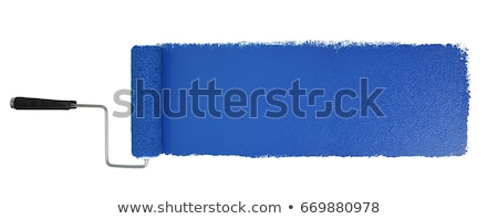 Stock photo: blue paint roller