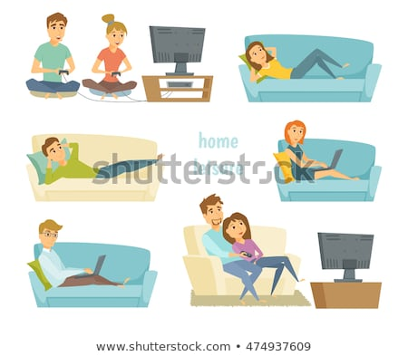 young couple playing computer games stock photo © photography33