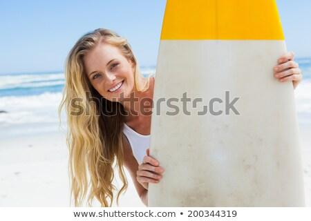 若い女性 · サーフィン · ボード · 水 · 少女 - ストックフォト © get4net