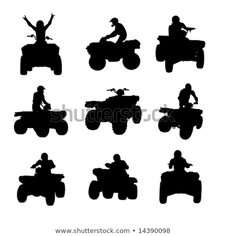 sportsman riding quad bike stock photo © naumoid