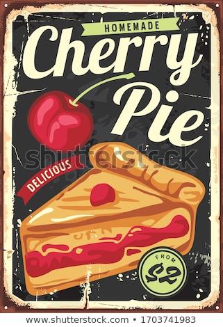 homemade cherry pie stock photo © alexeys