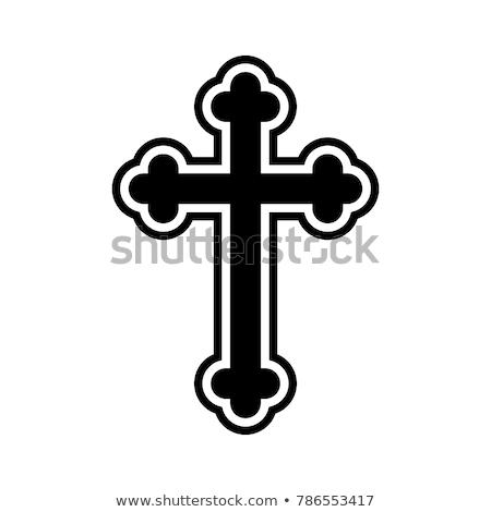 Ortodoks çapraz Hristiyan gökyüzü arka plan İsa Stok fotoğraf © slavick