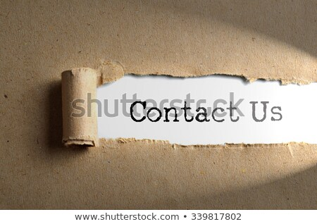 Word About us on paper  Stock photo © deyangeorgiev