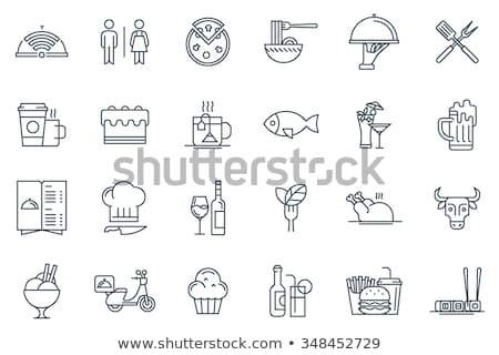 Vector restaurant icon set Stock photo © tele52
