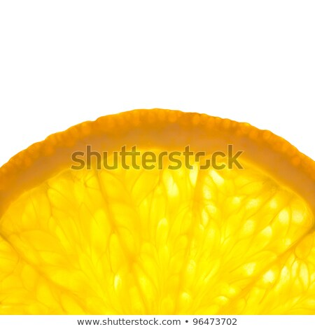 Slice of fresh Orange / Super Macro / Back lit Stock photo © Taiga