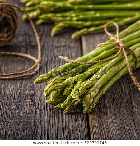 アスパラガス 木製 新鮮な 緑 春 食品 ストックフォト © Ansonstock