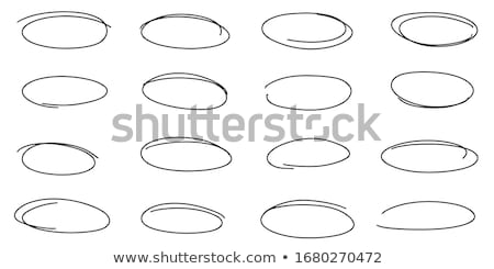 oval accent sketch Stock photo © prill